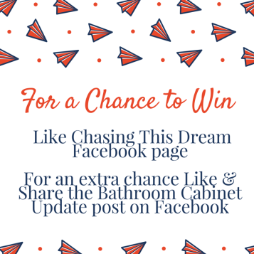 For a Chance to Win- Like Chasing This Dream Facebook pageFor an extra chance Like _ Share the Contest post on Facebook